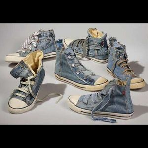 "Levy's Denim ""Reused Jean Shoe""Sneakers"
